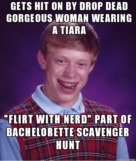 forever alone,flirting,bad luck brian,dating