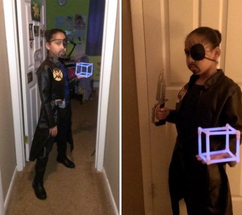 cosplay,Nick Fury,kids