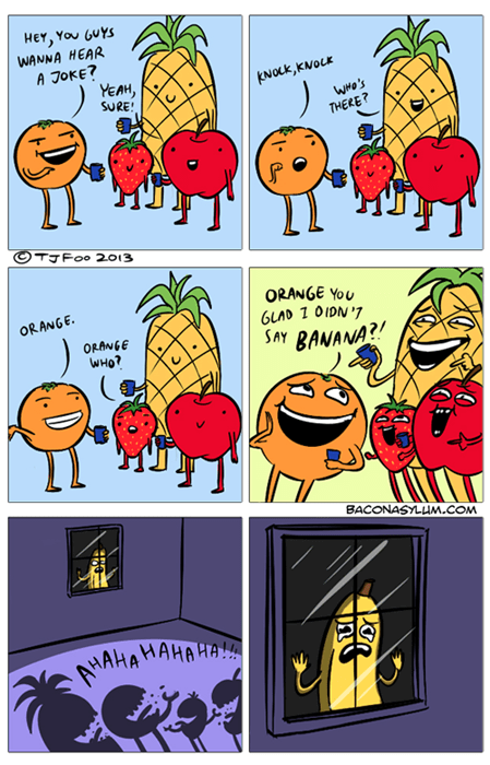 bananas fruit orange puns web comics - 8183881216