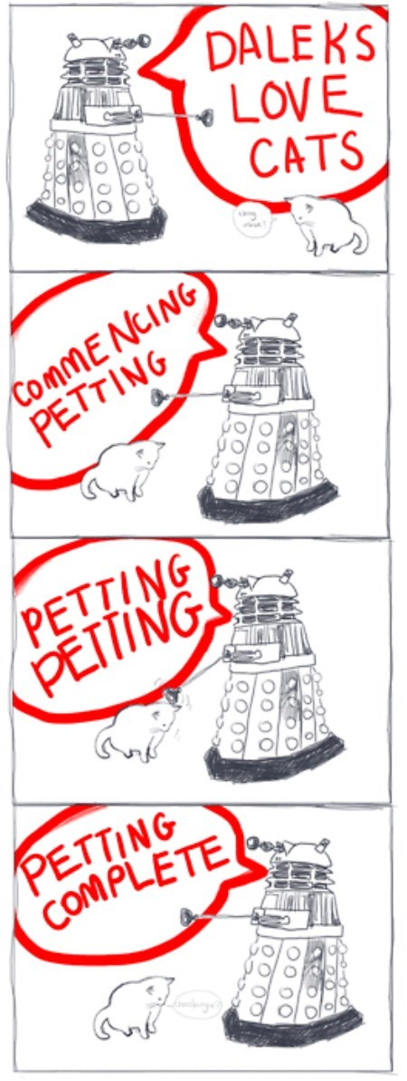 daleks,Cats,web comics