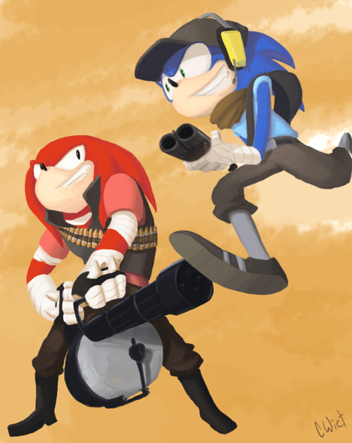 sonic the hedgehog,Fan Art,Team Fortress 2