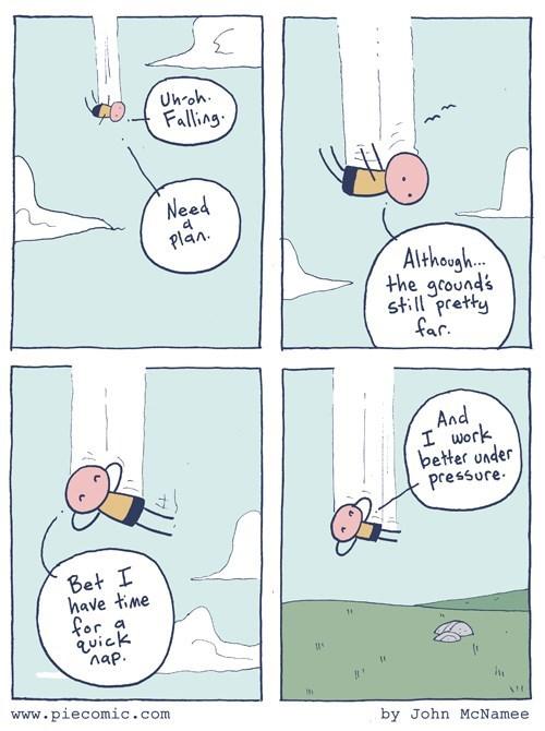 falling,procrastination,web comics