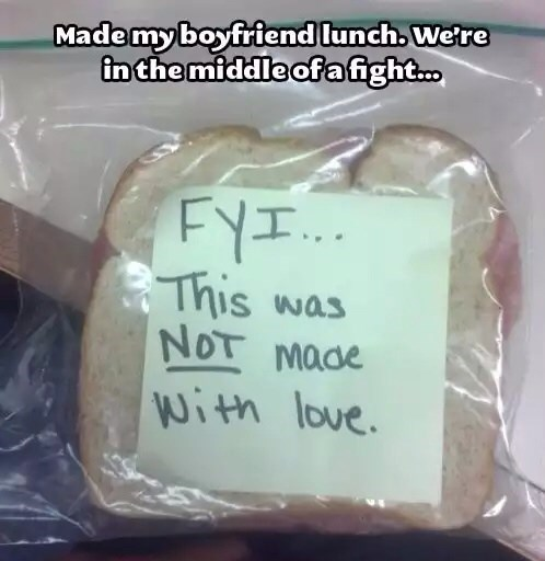 boyfriend,fight,lunch,funny,sandwich,g rated,dating