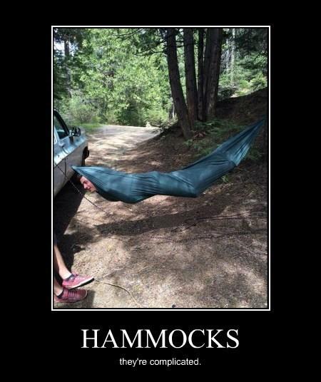 wtf summer camping hammocks idiots funny - 8185185536