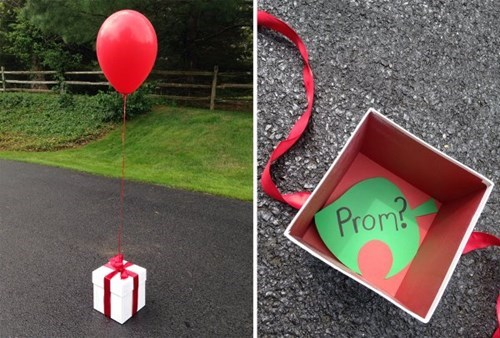 promposal present Balloons animal crossing