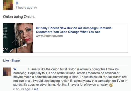 facepalm makeup satire the onion - 8185331200