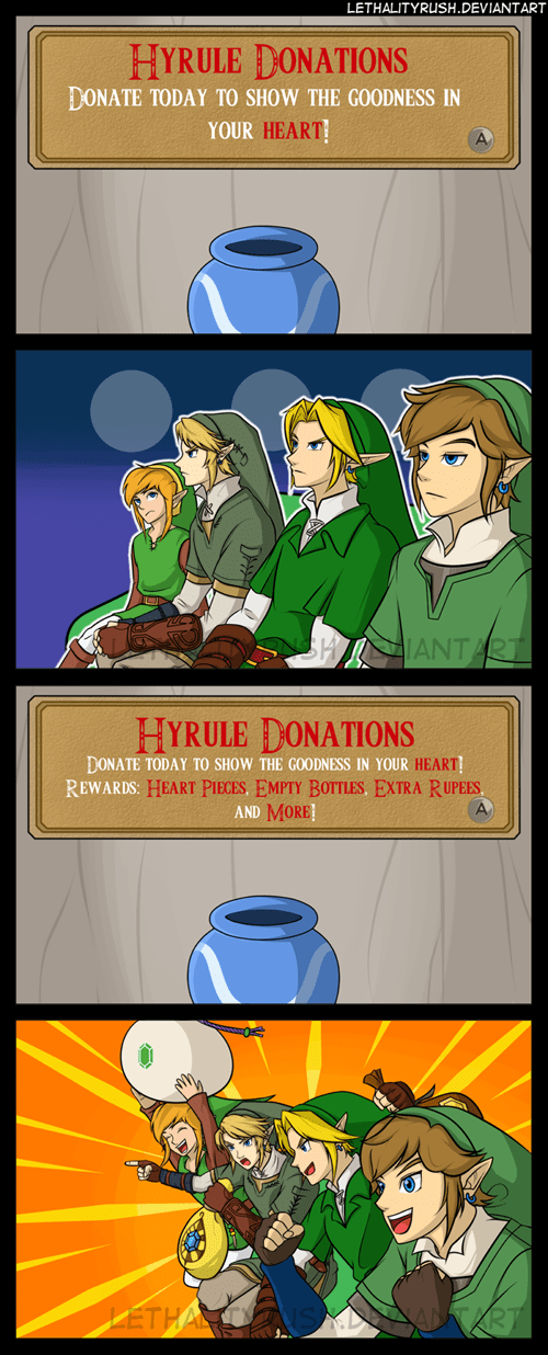 Donating: As Demonstrated by Link