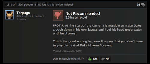 reviews,steam,Duke Nukem Forever