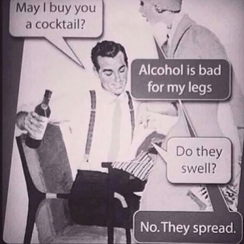 alcohol legs funny vintage - 8185367552
