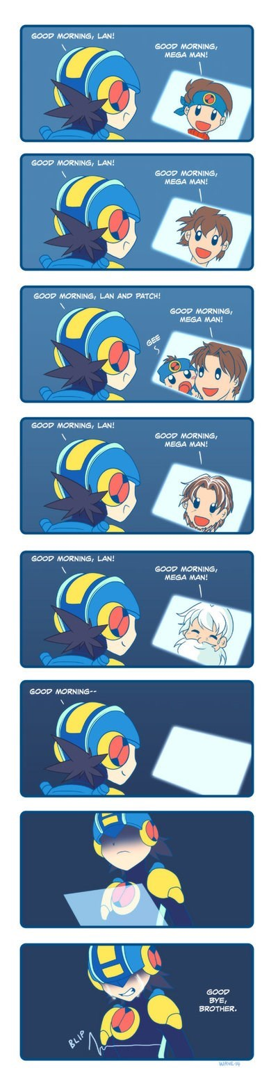 megaman.exe mega man battle network feels - 8185368576