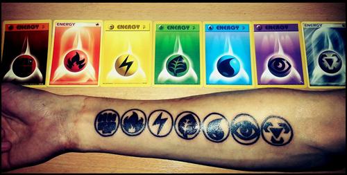 pokemon cards tattoos energy - 8185371392