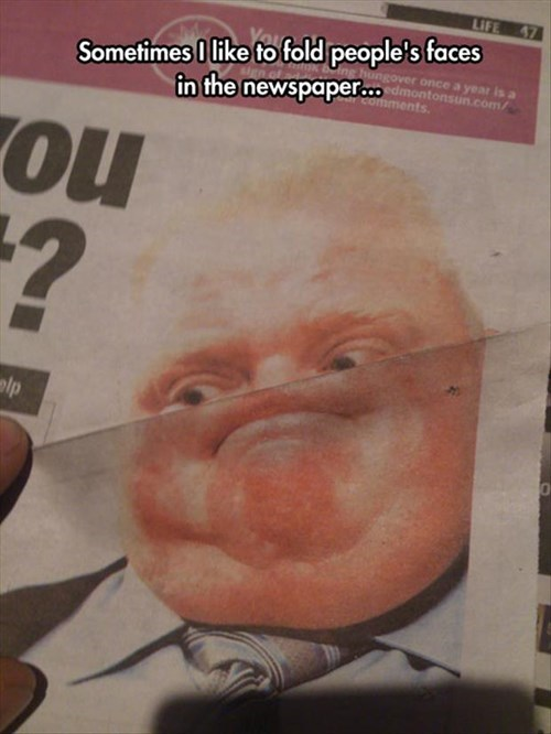 rob ford,political pictures,funny,newspaper