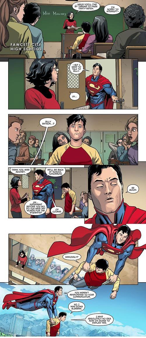 shazam Straight off the Page superman web comics