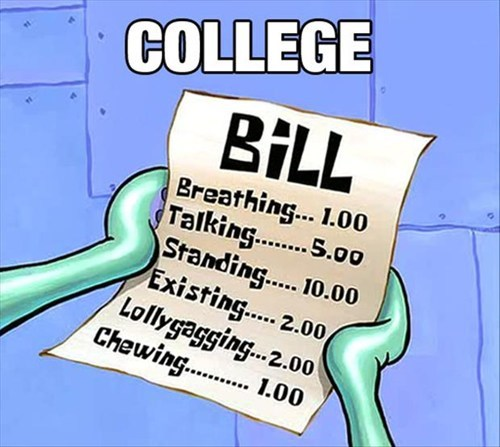 bill college funny SpongeBob SquarePants - 8185427712
