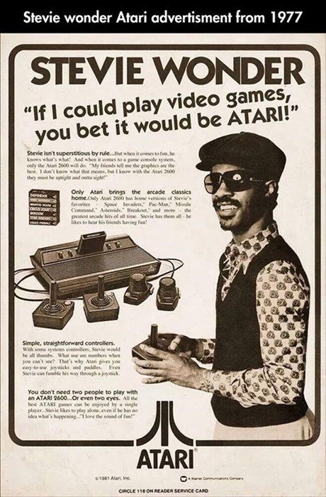 advertising atari blind video games stevie wonder - 8185480960