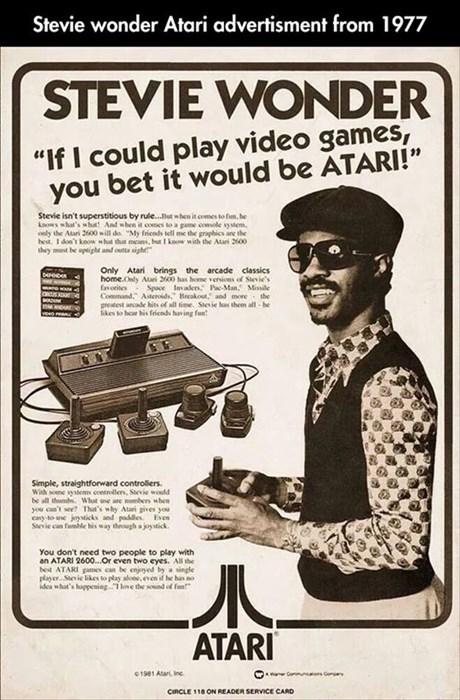 advertising atari blind video games stevie wonder - 8185480960