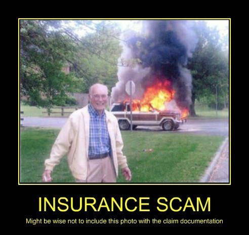 insurance,fire,cars,scam,funny