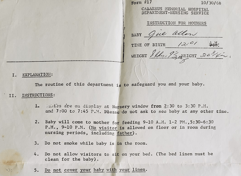 wtf letters discharge instructions lol newborn weird vintage 1968 - 8185861