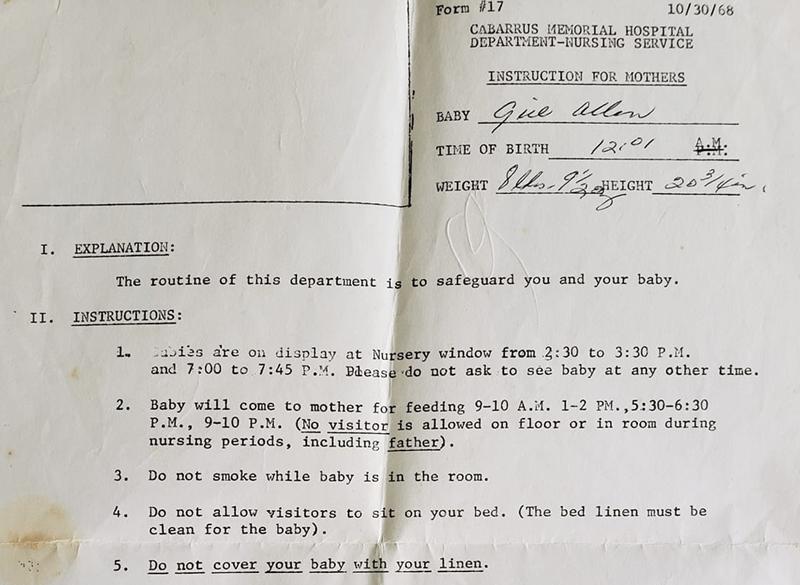 vintage discharge letter