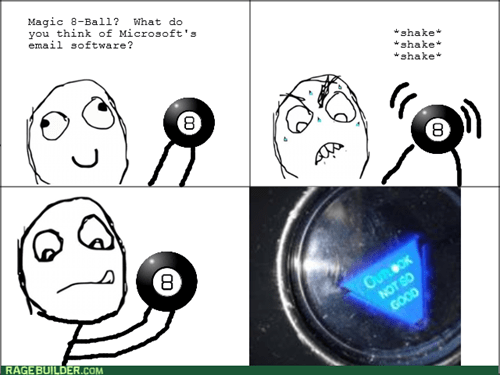 MAGIC 8-BALL microsoft outlook - 8186138112