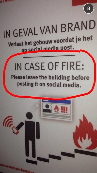 Netherlands,fire escape,fire,social media