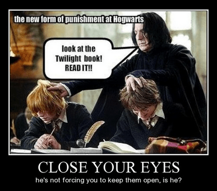Harry Potter,twilight,punishment,funny