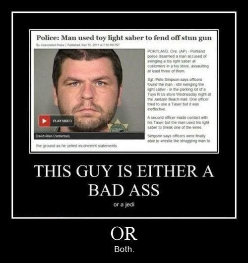light saber wtf stun gun funny police - 8186528768