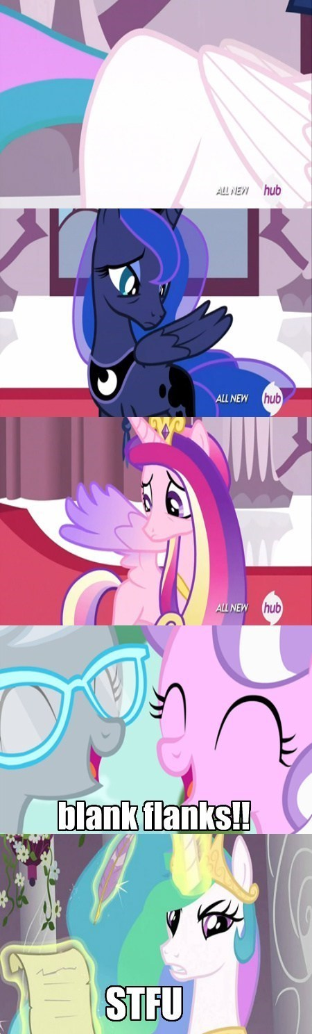 diamond tiara,blank flank,princess luna,princess celestia