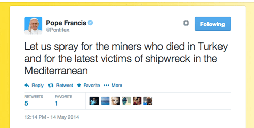 twitter typo spelling pope francis - 8186662144