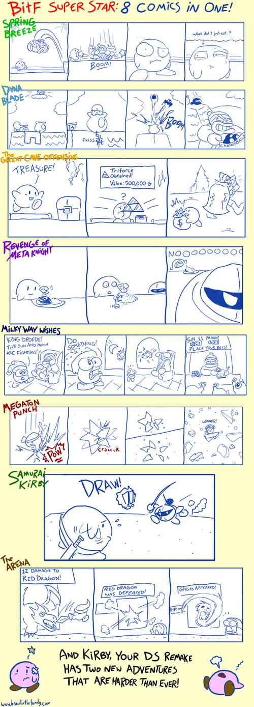 kirby,brawl in the family,web comics