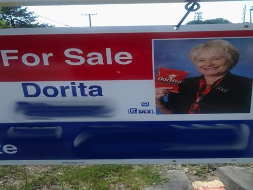 monday thru friday sign doritos real estate