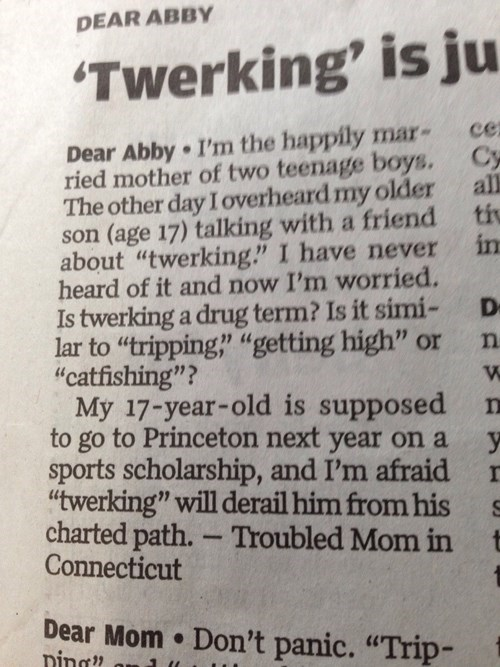 kids,twerking,parenting,dear abby,g rated