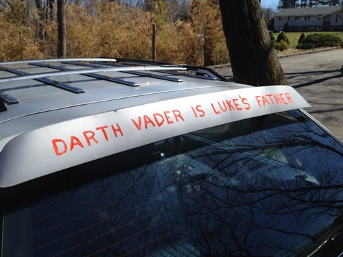 star wars cars nerdgasm spoiler g rated win - 8188130560
