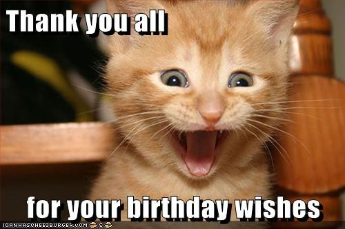 Thank You All For Your Birthday Wishes Cheezburger Funny Memes