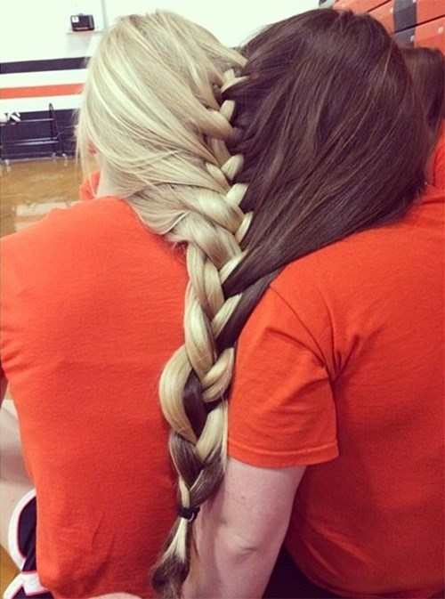 hair best friends poorly dressed friends hairstyle braid - 8188231680