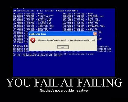 failing,double negative,funny