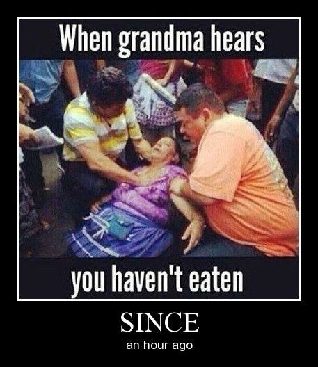 grandma passed out food funny