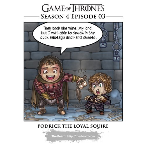 podrick Game of Thrones season 4 tyrion lannister web comics - 8188461824