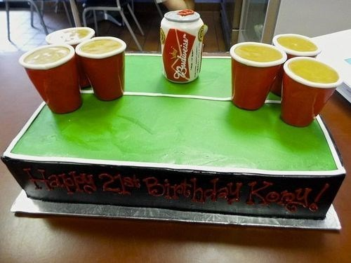 cake birthday Party beer pong - 8188474624