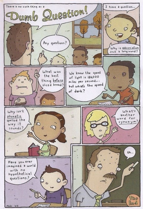 kids teachers questions web comics