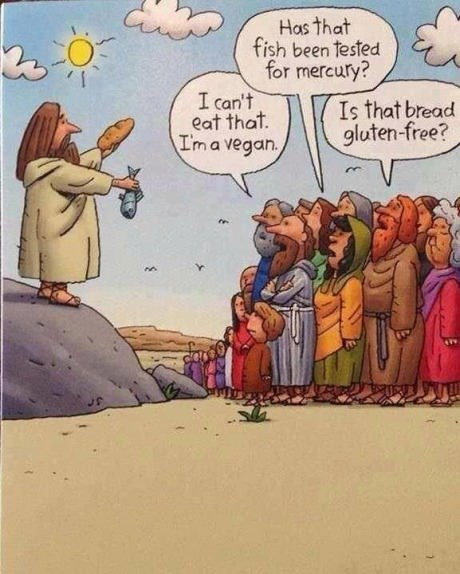 jesus diets bread fish web comics - 8189854208