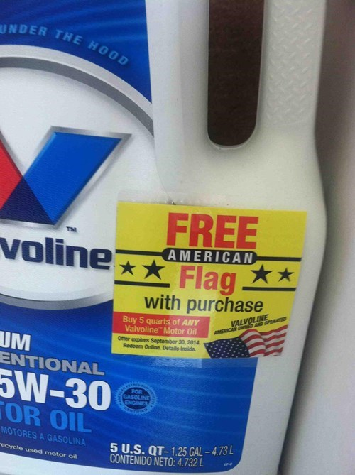 oil,flags,valvoline