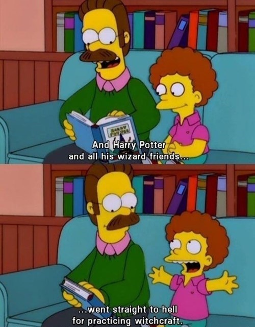 Harry Potter ned flanders the simpsons