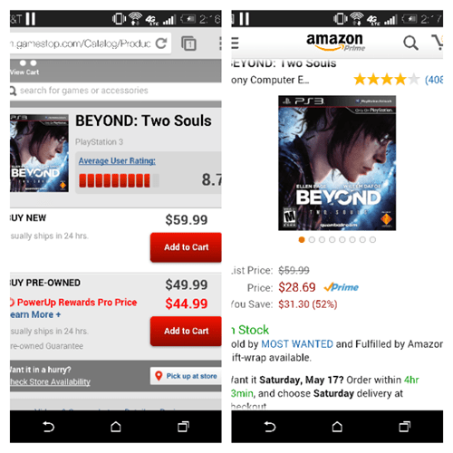 beyond: two souls,amazon,gamestop