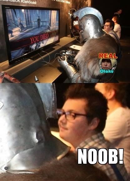 filthy casual gamers dark souls noobs