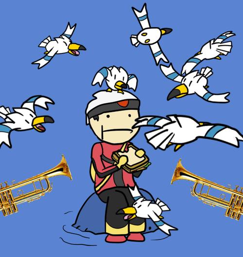 Pokémon trumpets gen 3 wingull - 8190199552