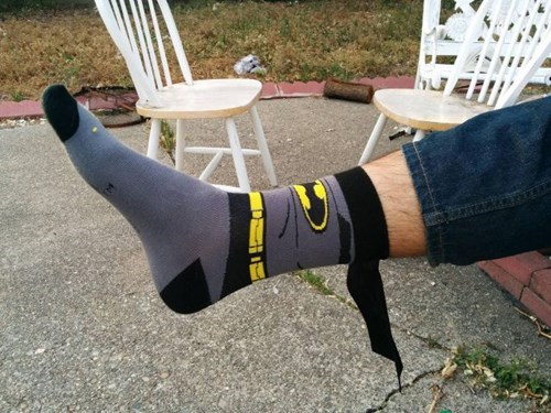 poorly dressed socks batman win g rated - 8190208512