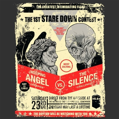 weeping angels,tshirts,the silence
