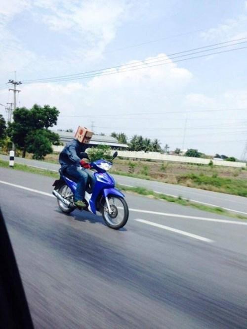 bad idea helmet motorcycle safety dangerous - 8191235328