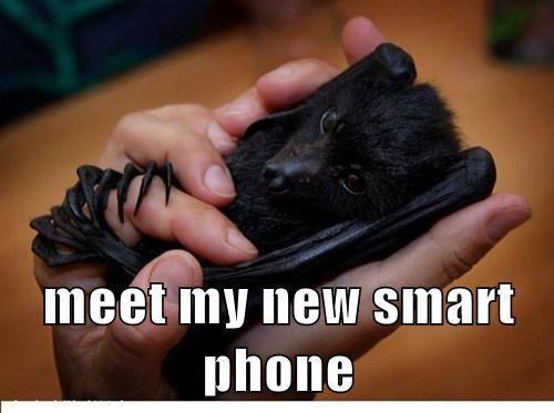 smart phone bats cute - 8191322624